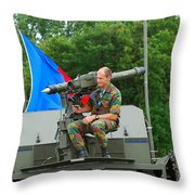 A Mistral Surface To Air Missile Sam Throw Pillow by Luc De Jaeger