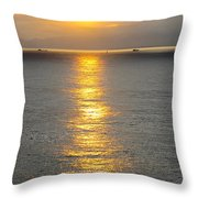 A Moment In Red And Gold Please Open Throw Pillow