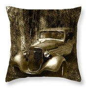 A More Elegant Time In Sepia Throw Pillow