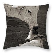 A Mother's Love Monochrome Throw Pillow