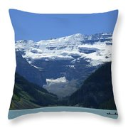 A Mountain Range With A Lake In The Throw Pillow