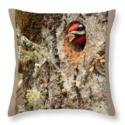 A Mouthful..excavation Throw Pillow