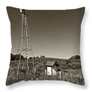 A Moving Memory Monochrome Throw Pillow