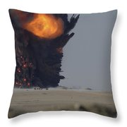 A Munitions Disposal Explosion Throw Pillow