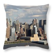 A New York City Afternoon Throw Pillow