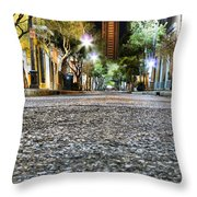 A Night On The Street Throw Pillow