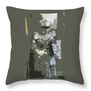 A Nightly Knight Throw Pillow