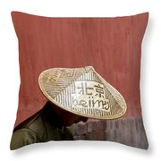 A Nod To Beijing Throw Pillow by Glennis Siverson