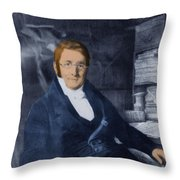A. P. De Candolle, Swiss Botanist Throw Pillow by Science Source