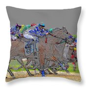 A Packed Field Throw Pillow