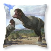 A Pair Of Pycnonemosaurus Nevesi Throw Pillow