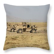A Pair Of U.s. Army Cougar Mrap Throw Pillow