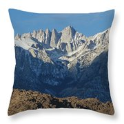 A Panoramic View Of Mount Whitney Throw Pillow