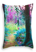 A Path Along A River Throw Pillow