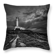 A Path To Enlightment Bw Throw Pillow