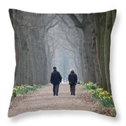 A Peaceful Stroll Throw Pillow