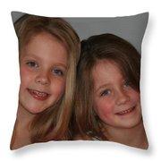 A Peach Of A Pair Throw Pillow