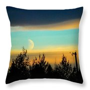 A Peek At The Moon Throw Pillow