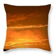 A Peeking Sunrise Throw Pillow