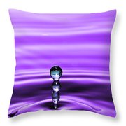 A Perfect Rise Of Water Throw Pillow