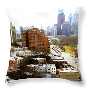 A Philadelphian View Two Throw Pillow