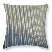 A Piece Of Metal Sheeting At A Sawmill Throw Pillow