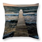 A Pier In The Water Throw Pillow