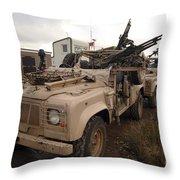 A Pink Panther Land Rover Throw Pillow