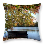 A Place For Thanks Giving Throw Pillow