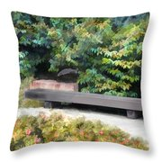 A Place Of Contemplation Throw Pillow