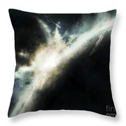 A Planet Pushed Out Of Its Orbit Throw Pillow by Tomasz Dabrowski