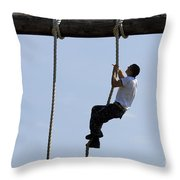 A Plebe In The U.s. Naval Academy Makes Throw Pillow