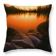 A Pond At Sunset, British Columbia Throw Pillow