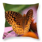 A Pretty Flying Flower Throw Pillow