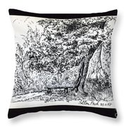 A Quiet Corner 1958 Throw Pillow