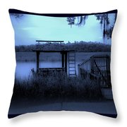 A Quiet Place By The Marsh Throw Pillow