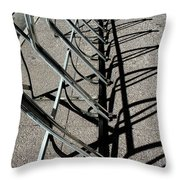 A Rack Of Shadows Throw Pillow