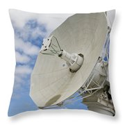 A Radar Dish Aboard Mobile At-sea Throw Pillow