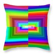 A Rainbow Is A Rainbow Is A Rainbow Throw Pillow