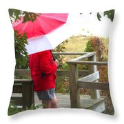 A Rainy Summer's Day Throw Pillow