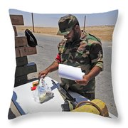 A Rebel Collects His Food Ration Throw Pillow