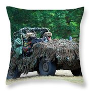 A Recce Unit Of The Belgian Army Throw Pillow