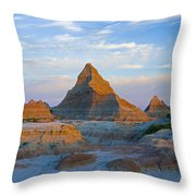 A Red Sunrise Illuminates The Hills In Throw Pillow