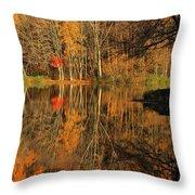 A Reflection Of October Throw Pillow