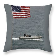 A Rigid Hull Inflatable Boat Throw Pillow