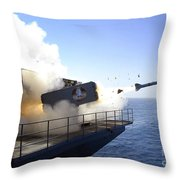 A Rim-7 Sea Sparrow Missile Launches Throw Pillow