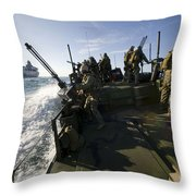 A Riverine Squadron Conducts Security Throw Pillow