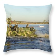 A Riverine Squadron Maneuvers Throw Pillow