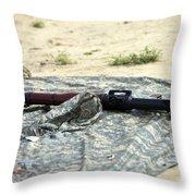 A Rocket-propelled Grenade Launcher Throw Pillow