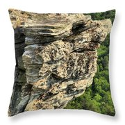 A Rocky Grin Throw Pillow